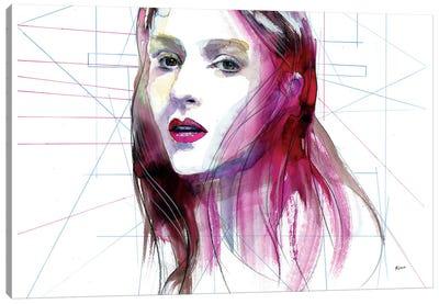 Magenta Hair Canvas Art Print