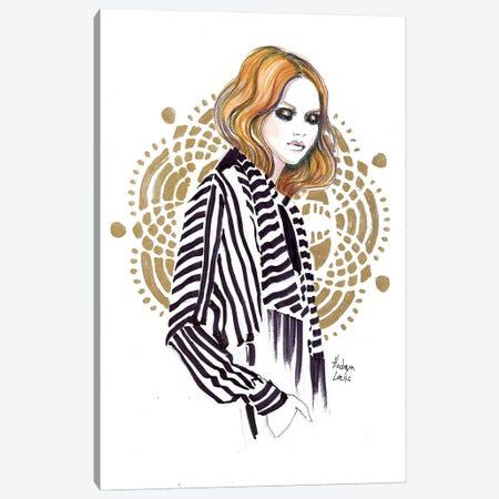 Mandala Portrait Canvas Print #HLU61} by Hodaya Louis Canvas Print