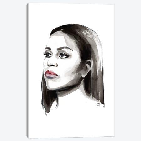 Michelle Obama Canvas Print #HLU65} by Hodaya Louis Canvas Artwork