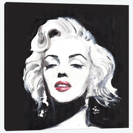 Miss Monroe Canvas Print #HLU67} by Hodaya Louis Canvas Art