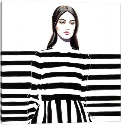 Monochrome Valentino Canvas Art Print