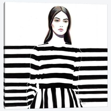 Monochrome Valentino Canvas Print #HLU69} by Hodaya Louis Art Print