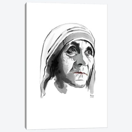 Mother Teresa Canvas Print #HLU70} by Hodaya Louis Canvas Artwork