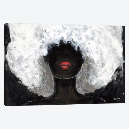 Poppy Red Lips Canvas Print #HLU78} by Hodaya Louis Canvas Art
