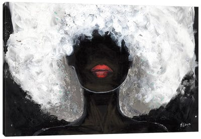 Poppy Red Lips Canvas Art Print