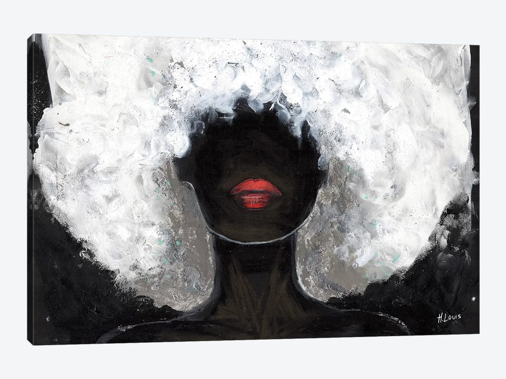 Poppy Red Lips by Hodaya Louis 1-piece Canvas Print