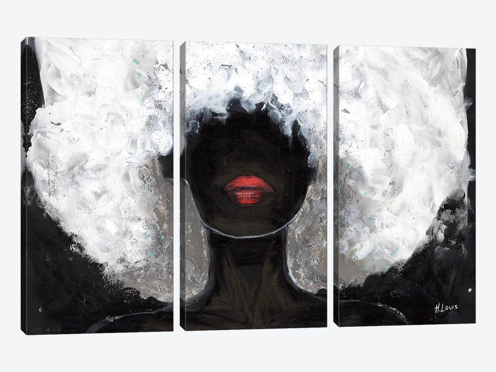 Poppy Red Lips by Hodaya Louis 3-piece Canvas Print