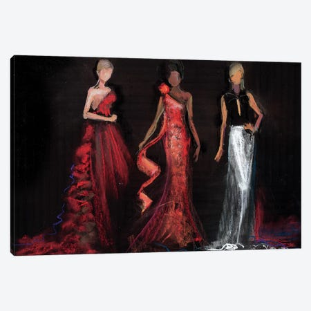 Red Carpet Canvas Print #HLU80} by Hodaya Louis Canvas Art Print