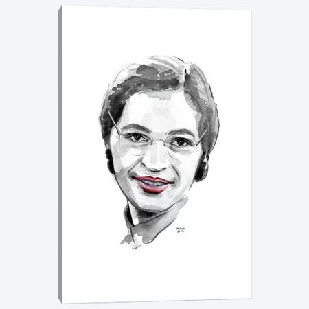 Rosa Parks Canvas Print #HLU84} by Hodaya Louis Canvas Wall Art
