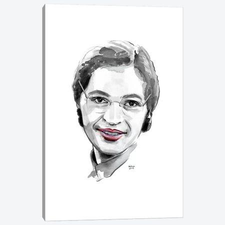 Rosa Parks Canvas Print #HLU84} by Hodaya Louis Canvas Wall Art