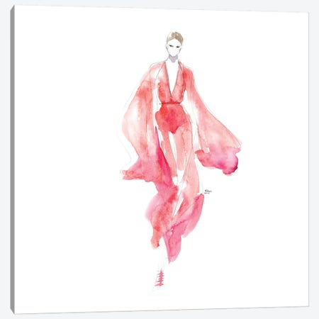 Runway In Red Canvas Print #HLU87} by Hodaya Louis Canvas Art