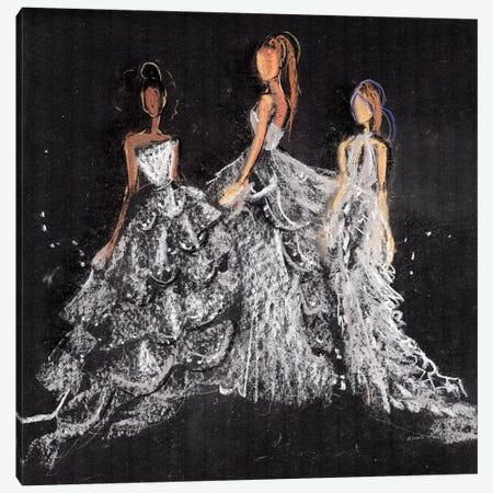 Silver Gala Canvas Print #HLU91} by Hodaya Louis Canvas Wall Art