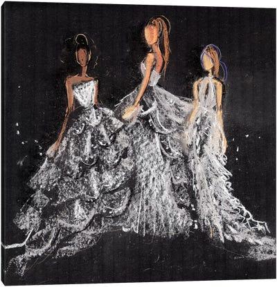 Silver Gala Canvas Art Print