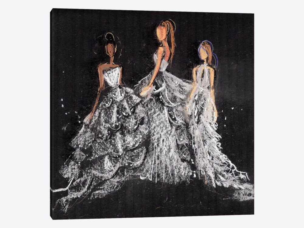 Silver Gala by Hodaya Louis 1-piece Canvas Artwork
