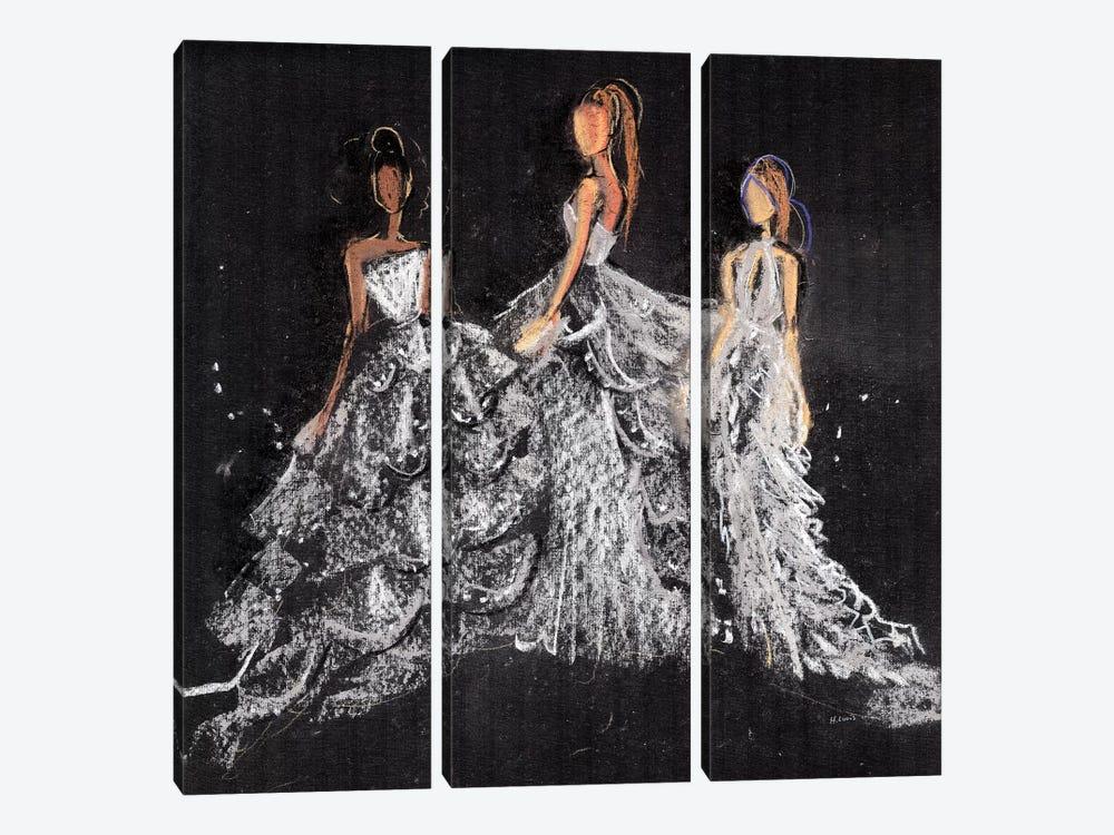 Silver Gala by Hodaya Louis 3-piece Canvas Wall Art