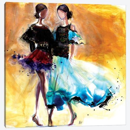 Summer Party Canvas Print #HLU96} by Hodaya Louis Canvas Art Print