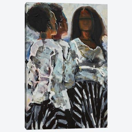 Big Sister, Little Sister Canvas Print #HLU9} by Hodaya Louis Canvas Wall Art
