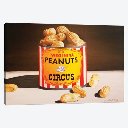 Circus Peanuts Canvas Print #HMA3} by Heidi Martin Canvas Art
