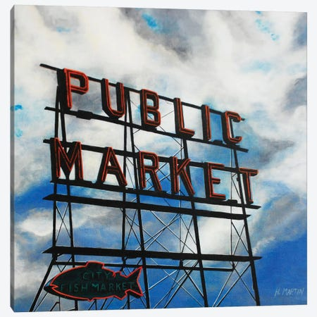 City Fish Market Canvas Print #HMA4} by Heidi Martin Art Print