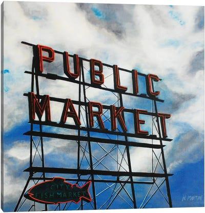 City Fish Market Canvas Art Print