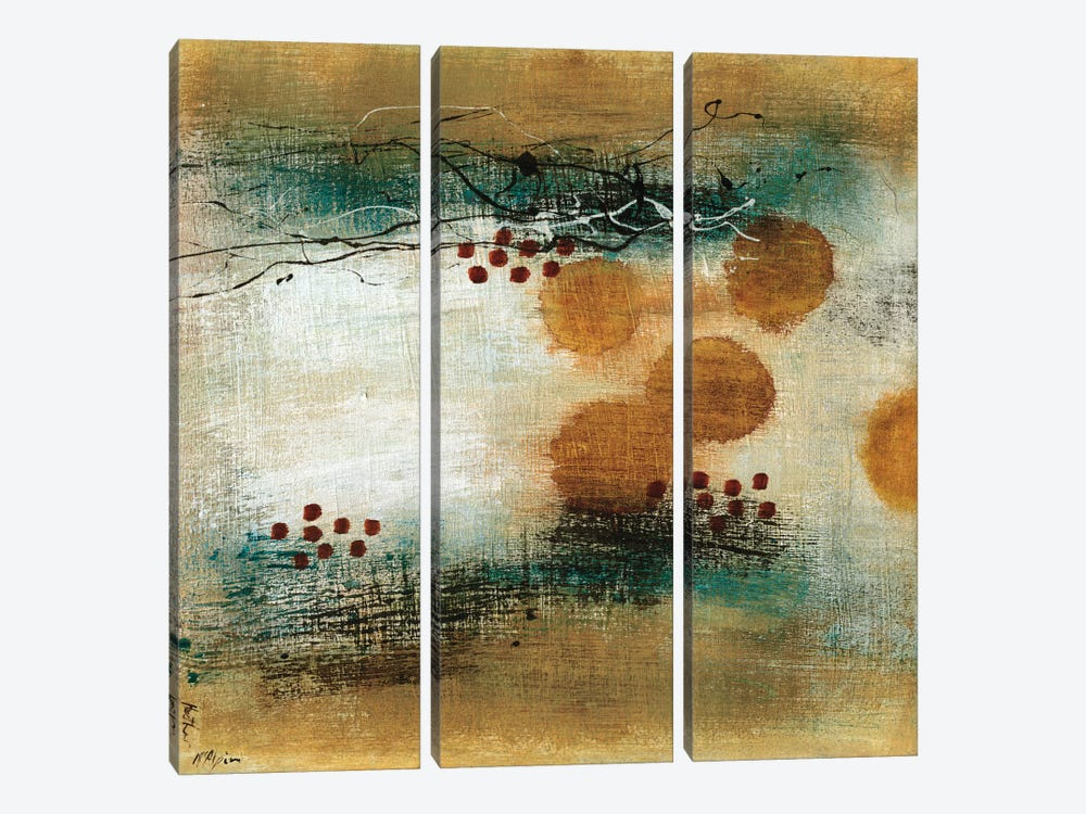 Drifting Current I by Heather McAlpine 3-piece Canvas Wall Art