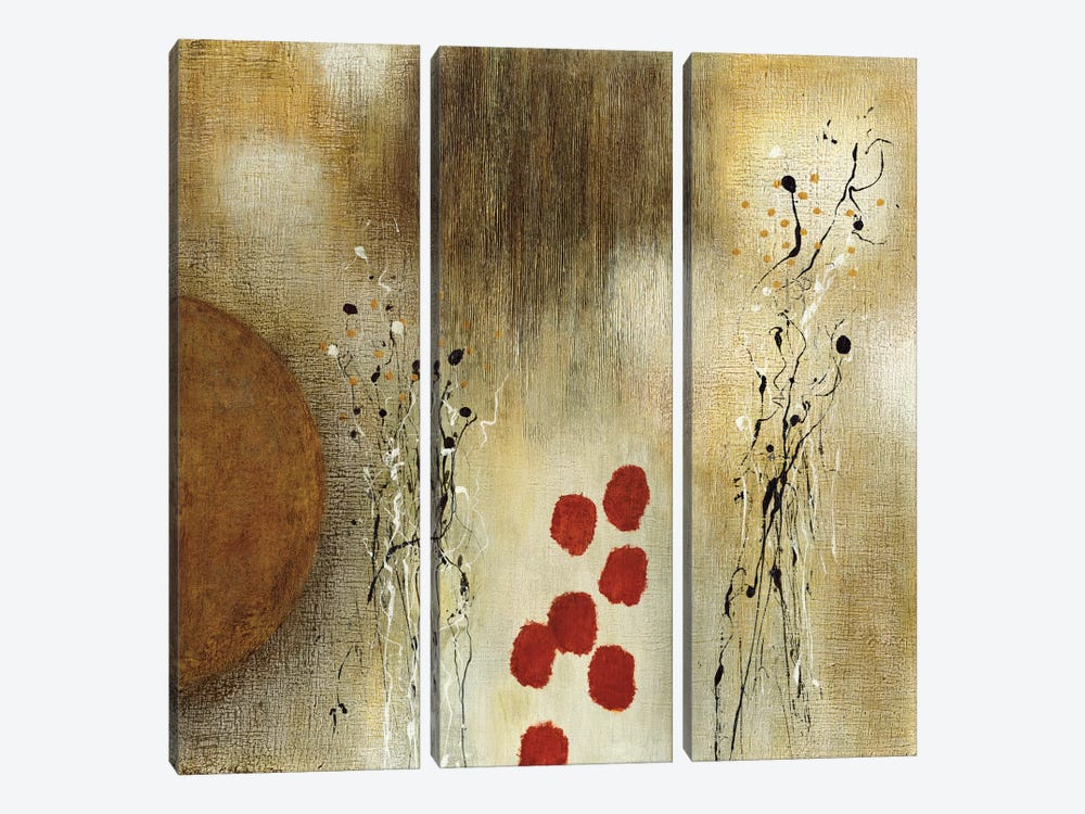 Autumn Moon I by Heather McAlpine 3-piece Canvas Artwork
