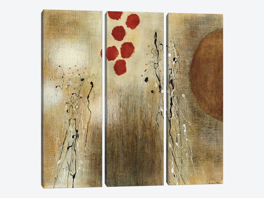 Autumn Moon II 3-piece Canvas Print