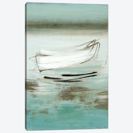 Canoe Canvas Print #HMC9} by Heather McAlpine Canvas Artwork
