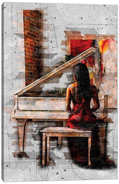 Elegant Sounds Sketch Art Canvas Art Print