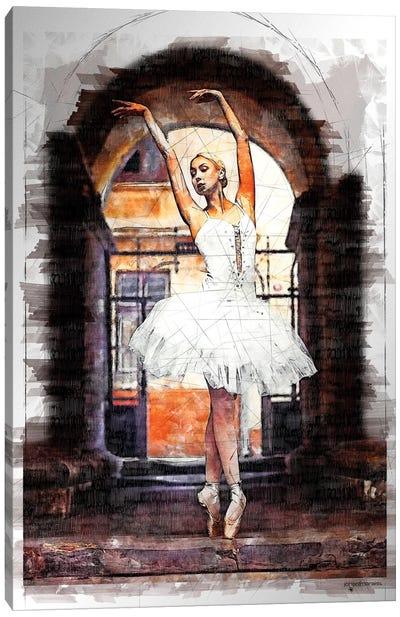 Ballerina Graphic Marker Canvas Art Print