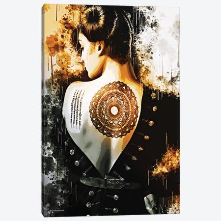 Back Tattoo Girl Canvas Print #HMI19} by Johan Marais Canvas Art Print