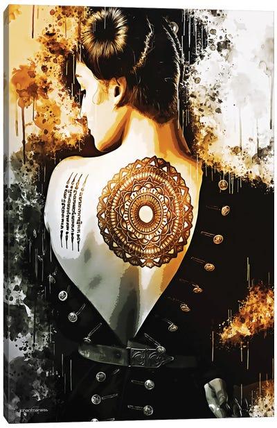 Back Tattoo Girl Canvas Art Print