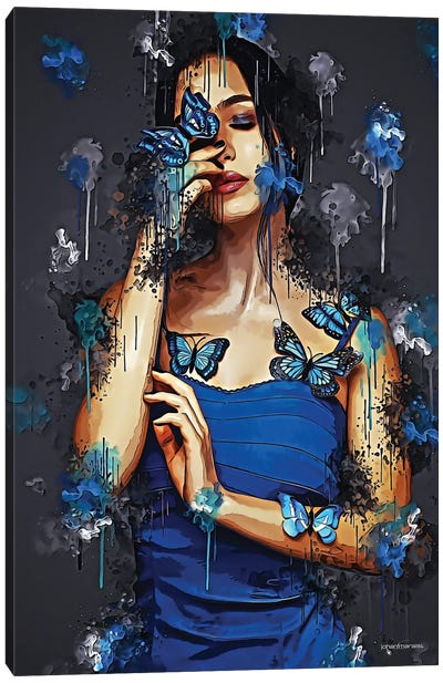 Butterfly Angel Canvas Art Print