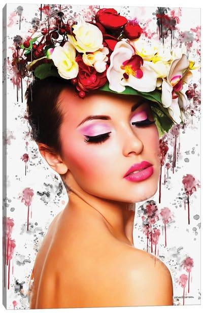 Flower Devine Mixart Canvas Art Print