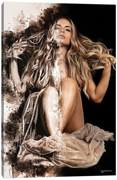 Golden Beauty Canvas Art Print