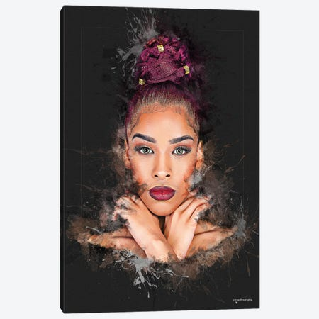 Portrait Makeup Art Canvas Print #HMI41} by Johan Marais Canvas Art
