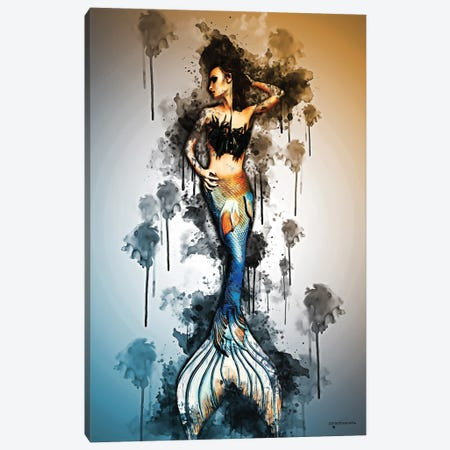 Mermaid Concept Art Canvas Print #HMI42} by Johan Marais Canvas Art
