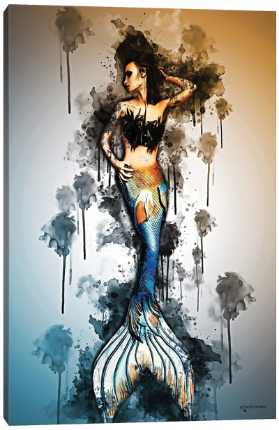 Mermaid Concept Art Canvas Art Print