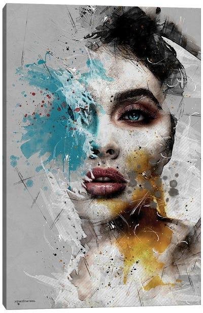 Mixart Female Portrait Canvas Art Print