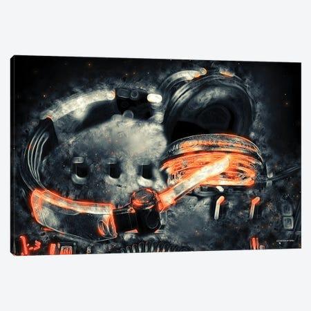 Neon Beats Canvas Print #HMI46} by Johan Marais Art Print