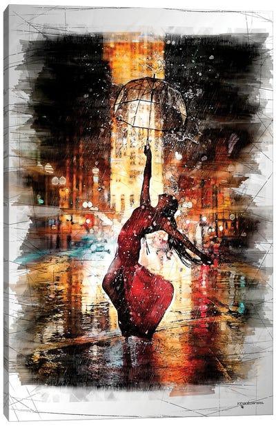 Rainy Night Dance Canvas Art Print