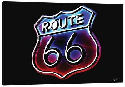 Route 66 Neon Canvas Art Print