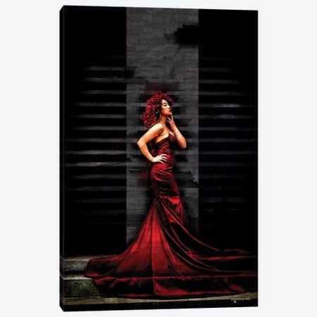 Red Passion Canvas Print #HMI58} by Johan Marais Art Print