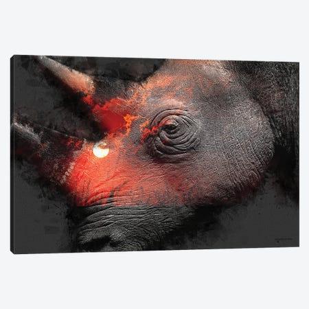 Save The Rhinos Canvas Print #HMI60} by Johan Marais Canvas Art