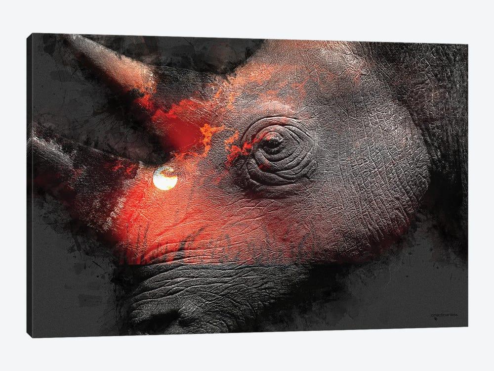 Save The Rhinos by Johan Marais 1-piece Canvas Print