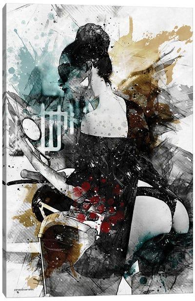 Sensuel À Paris Canvas Art Print