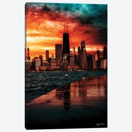 Breathtaking Skyline Sunset Canvas Print #HMI68} by Johan Marais Canvas Art