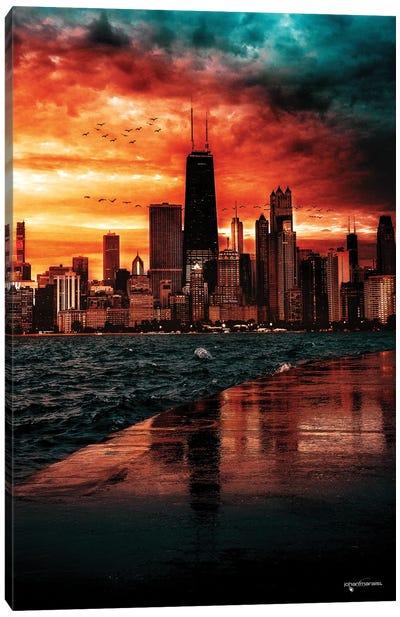 Breathtaking Skyline Sunset Canvas Art Print