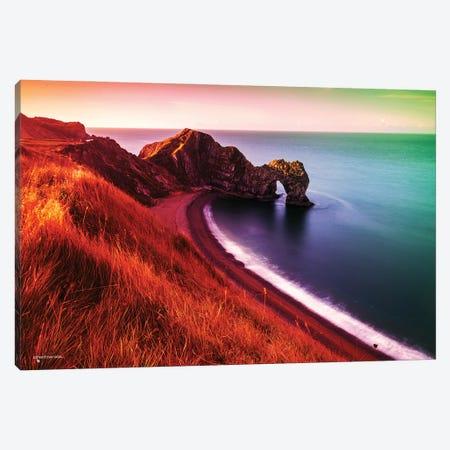 Sunset Beach Canvas Print #HMI71} by Johan Marais Art Print
