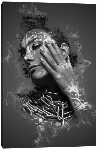 The Smoke Collection V Canvas Art Print